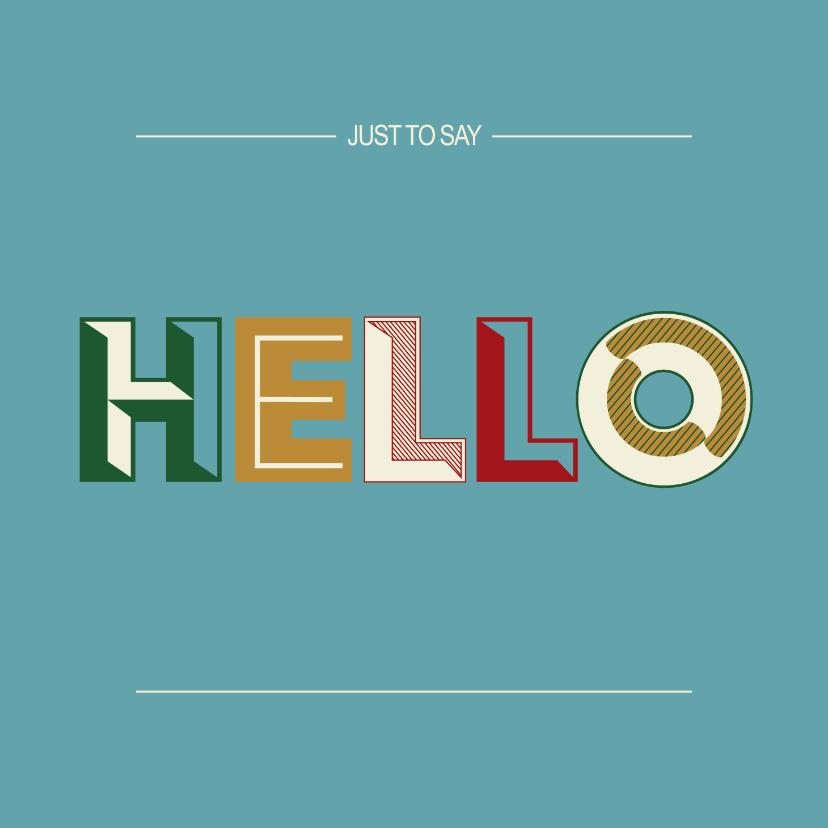 Zomaar kaarten - Hello - retro - zomaarkaart