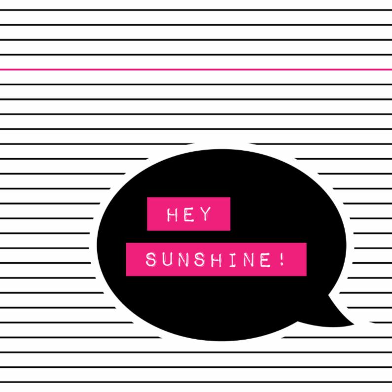 Zomaar kaarten - Hello sunshine