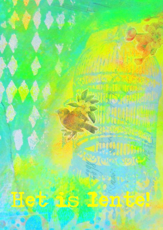 Zomaar kaarten - Het is lente - Vogeltje