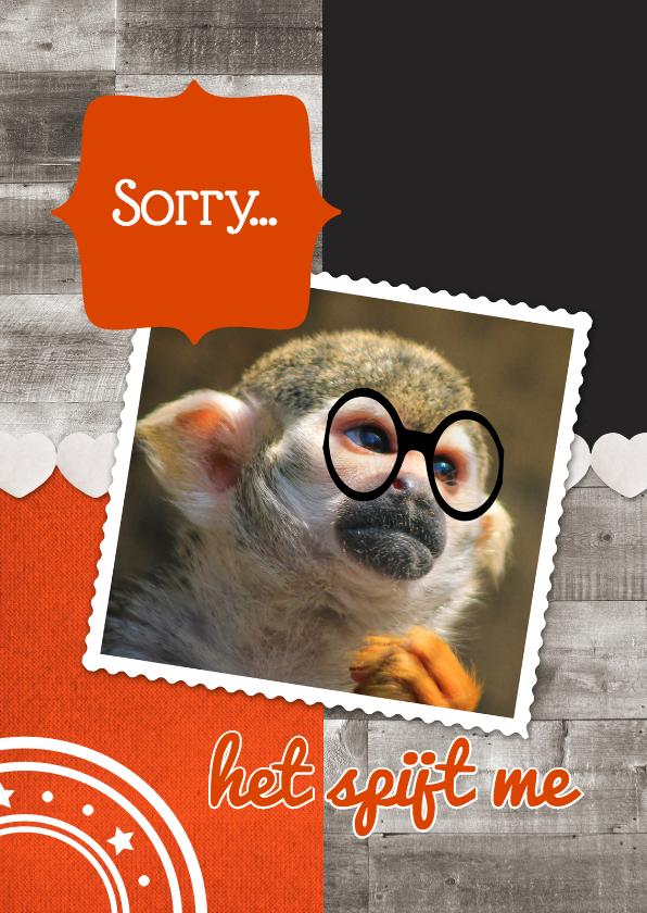 Zomaar kaarten - Het spijt me aap - DH