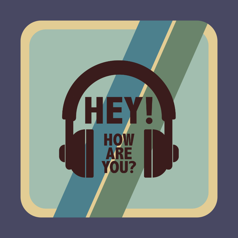 Zomaar kaarten - Hey how are you? - retro - zomaarkaart