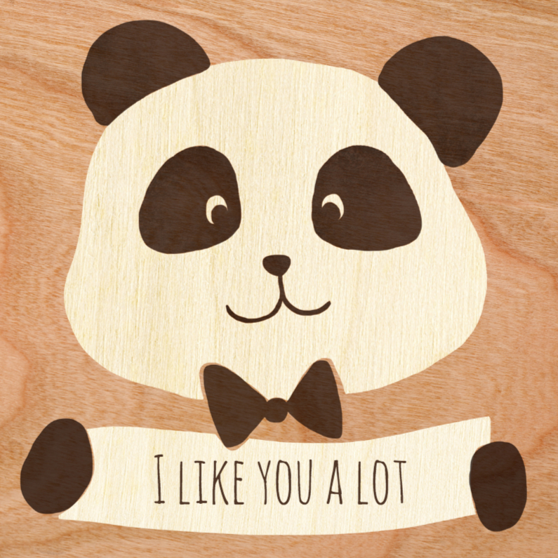 Zomaar kaarten - I like you a lot panda