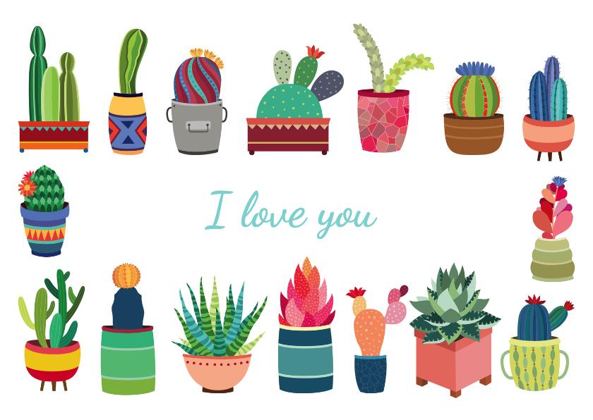 Zomaar kaarten - I love you cactus - DH
