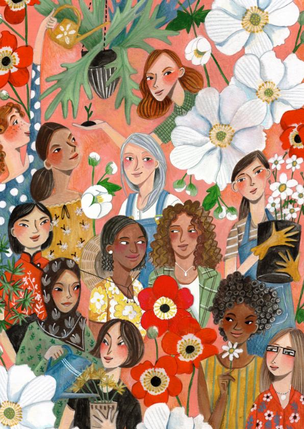 Zomaar kaarten - International Women's Day kaart