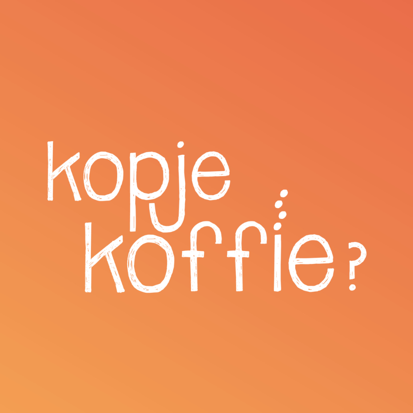 Zomaar kaarten - Kopje koffie - oranje