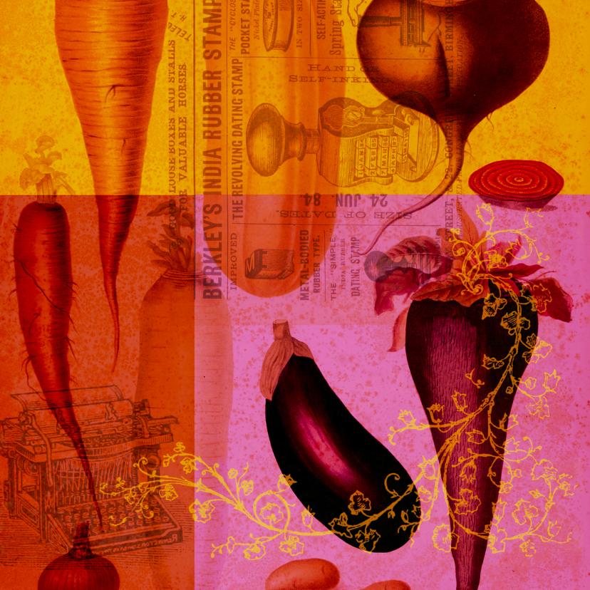 Zomaar kaarten - Kunstkaart groente-HR