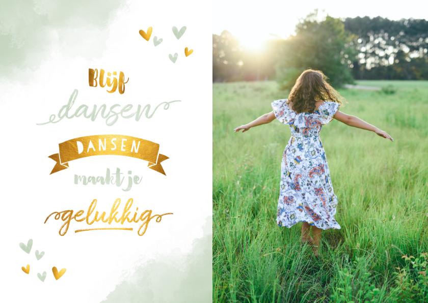 Zomaar kaarten - Make-A-Wish foto kaart blijf dansen groen