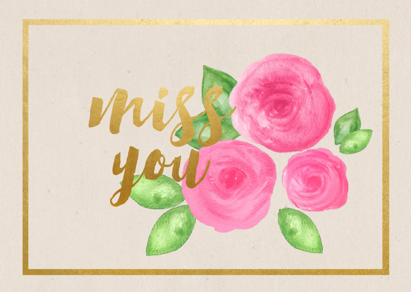 Zomaar kaarten - Miss you kaartje - SU