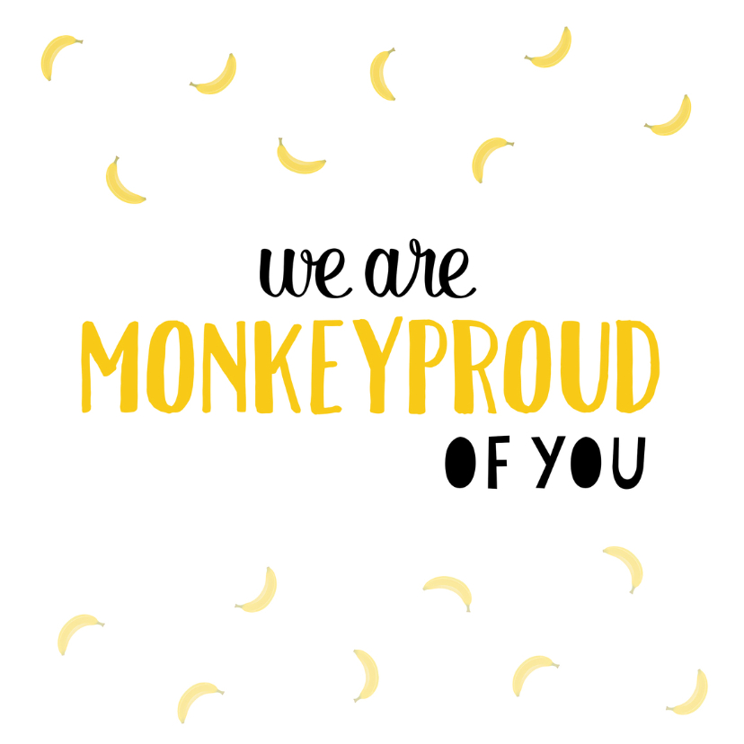 Zomaar kaarten - Monkeyproud of you