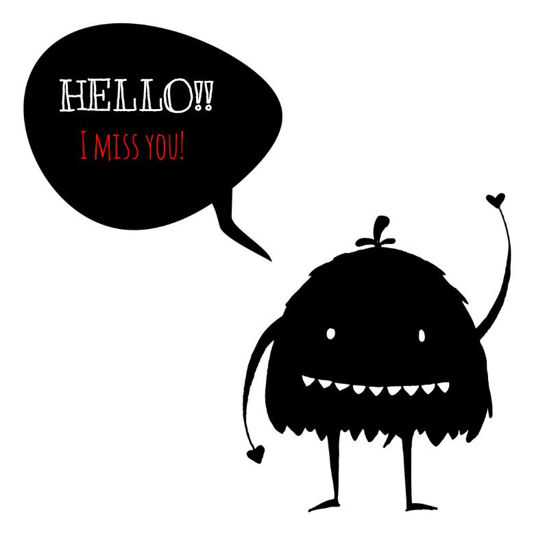 Zomaar kaarten - Monster met praatballon