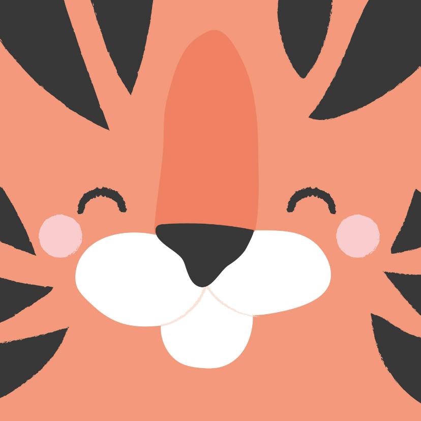 Zomaar kaarten - Motiverende kaart met het gezicht van een tijger voorop