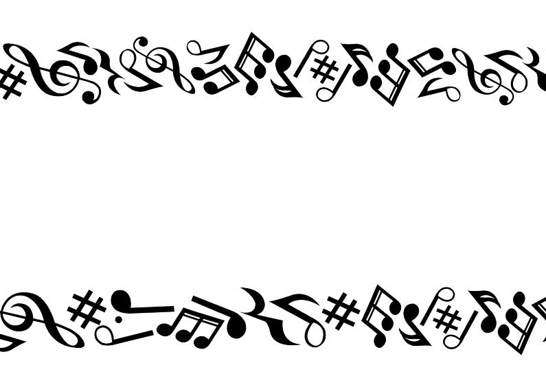 Muzieknoten zomaarkaart 1