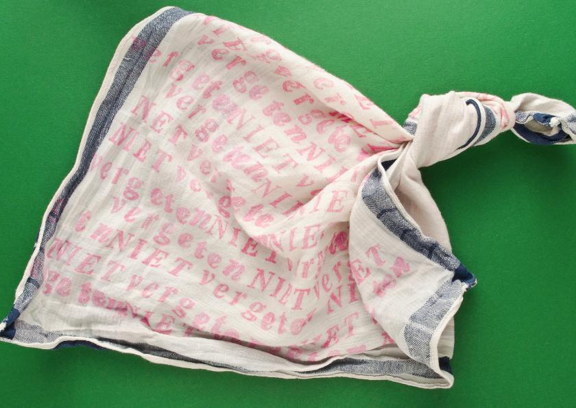 Zomaar kaarten - Niet vergeten zakdoek