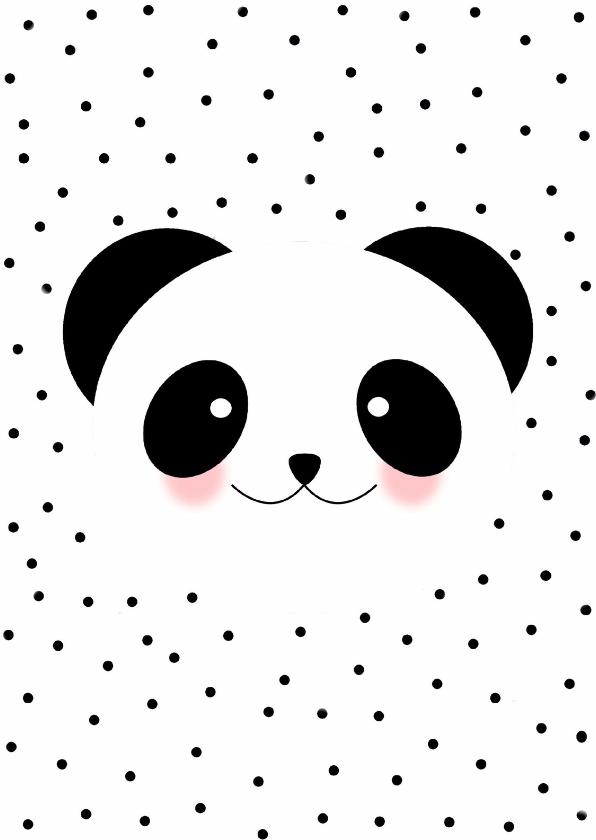 Zomaar kaarten - Panda kaartje - WW