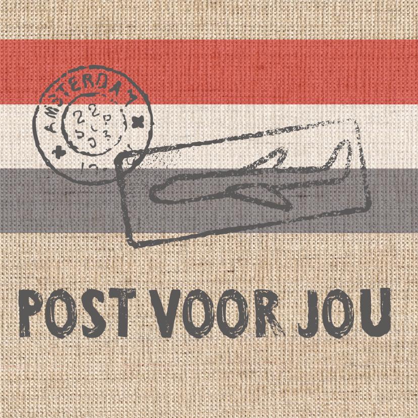 Zomaar kaarten - Post voor jou vierkant