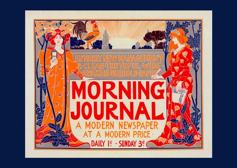 Zomaar kaarten - Reclameposter art nouveau
