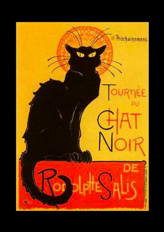 Zomaar kaarten - Reclameposter chat noir