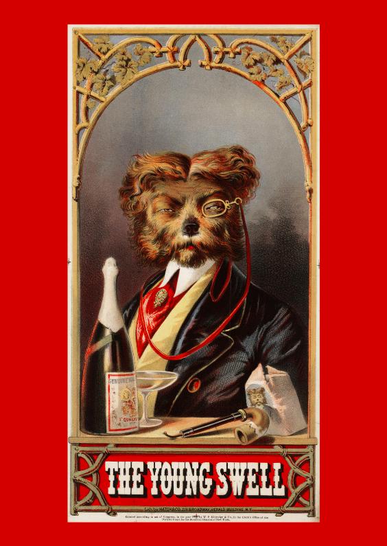 Zomaar kaarten - Reclameposter hondje