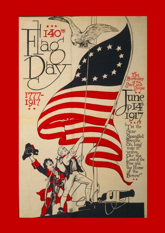 Zomaar kaarten - Reclameposter vlag amerika