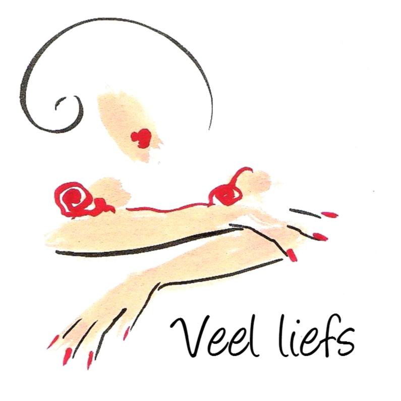 Zomaar kaarten - Romantisch meisje met rode lippen