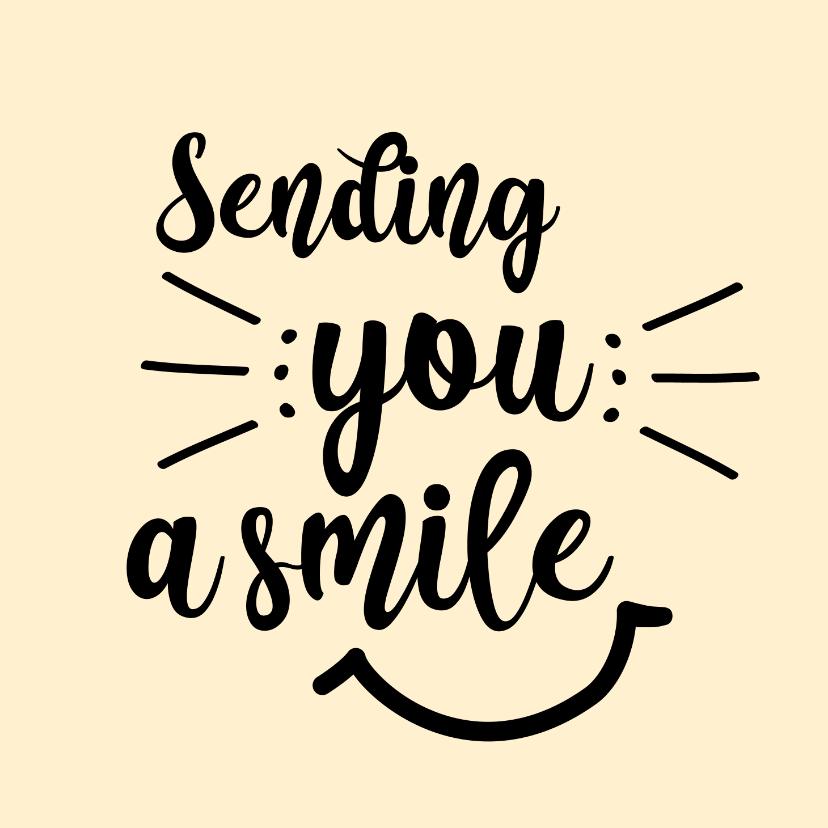 Zomaar kaarten - Sending you a smile - positive - zomaarkaart