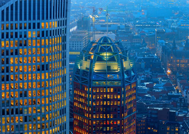 Skyline van de stad Den Haag 1