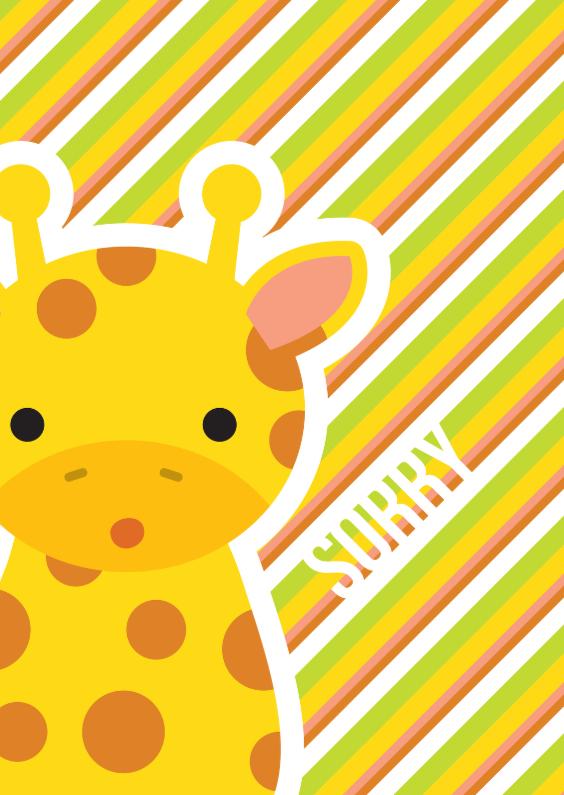 Zomaar kaarten - Sorry Giraffe