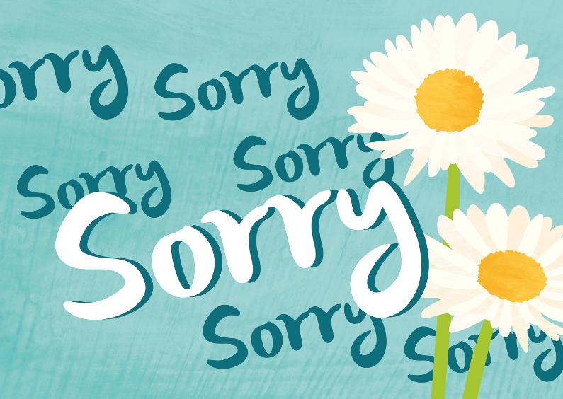 Zomaar kaarten - Sorry met madeliefjes