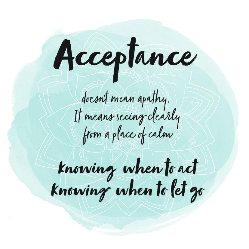 Zomaar kaarten - Spreukenkaart Acceptance