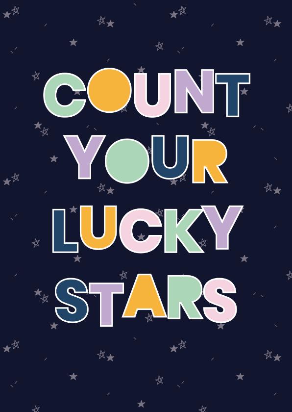 Zomaar kaarten - spreukenkaart Lucky stars