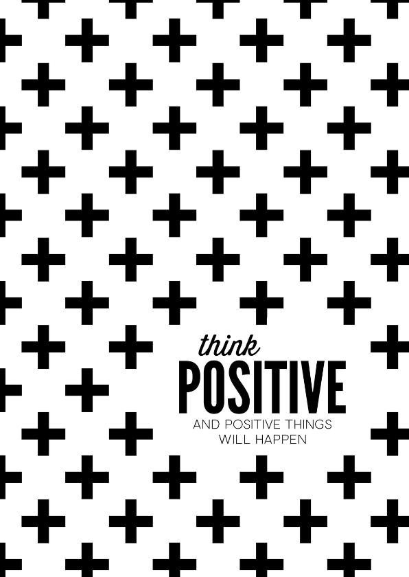 Zomaar kaarten - Spreukenkaart Think positive