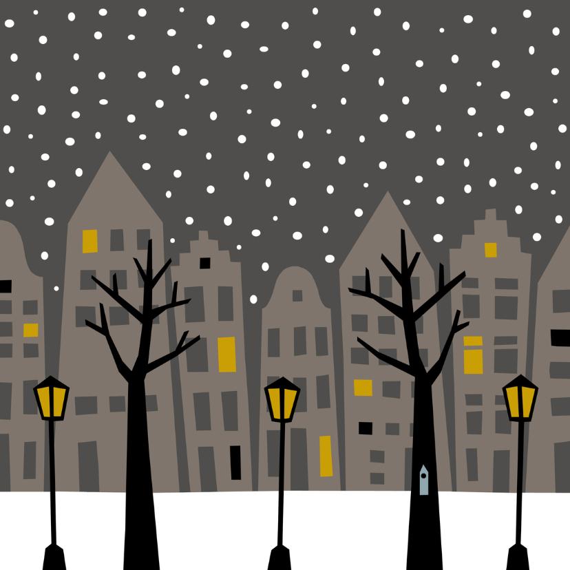 Zomaar kaarten - Stad in de Sneeuw 's Nachts