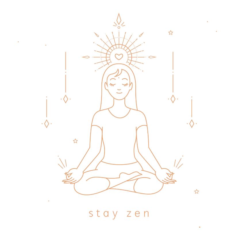 Zomaar kaarten - Stay zen succes kaart