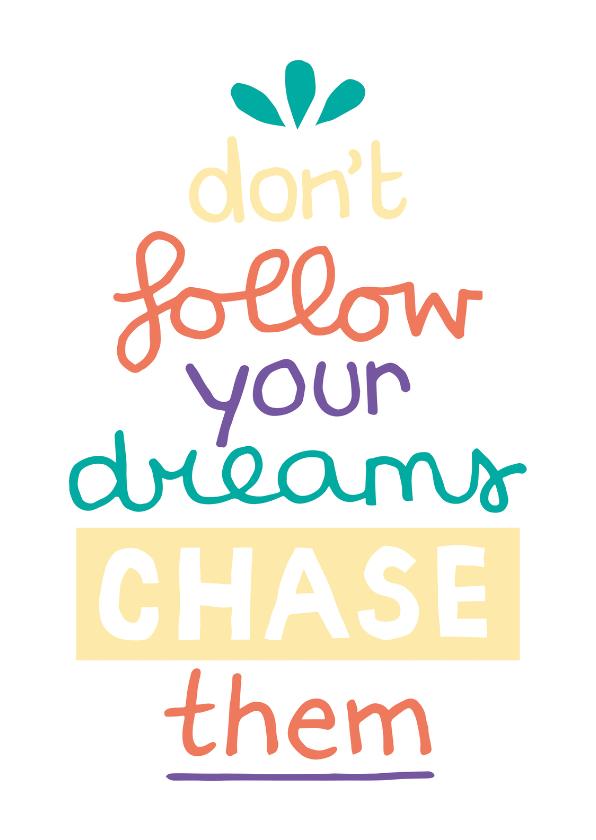 Zomaar kaarten - Succes Chase dreams
