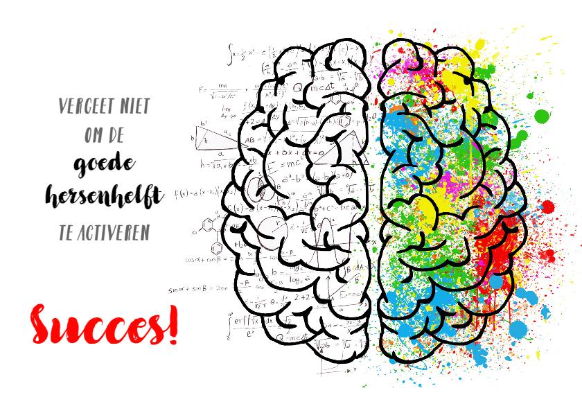 Zomaar kaarten - succes hersenen aan het werk