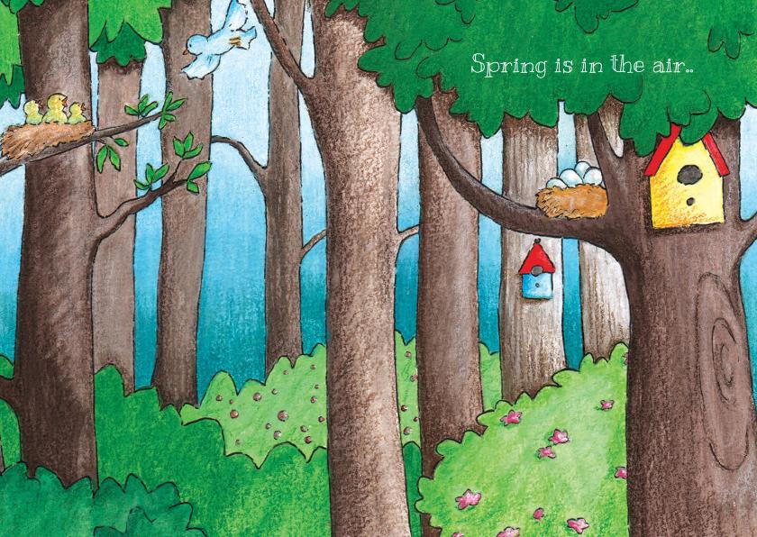 Zomaar kaarten - Vogeltjes in April