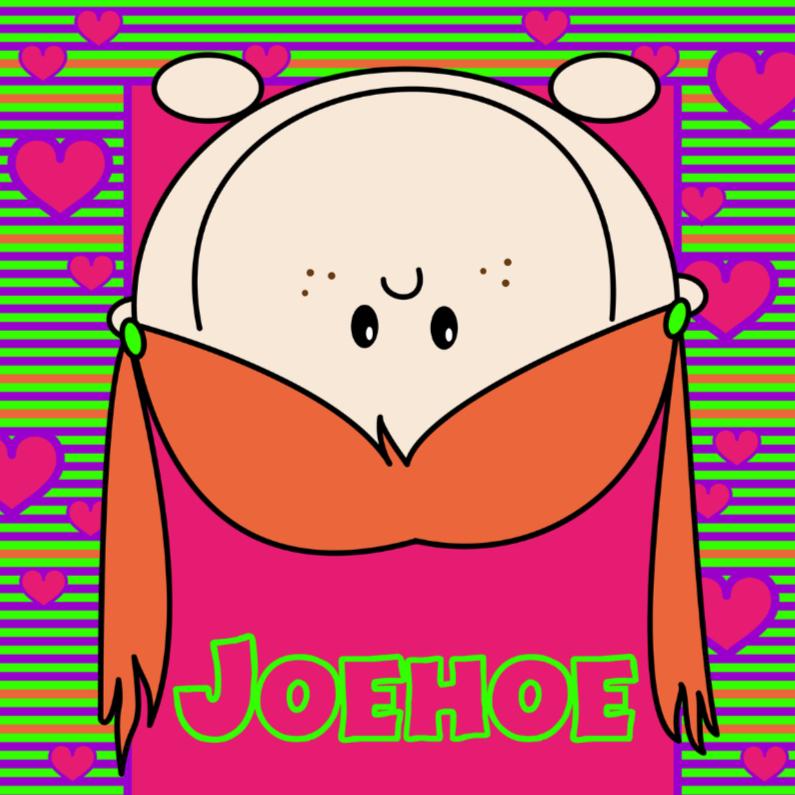 Zomaar kaarten - Vrolijk kaartje meisje JOEHOE