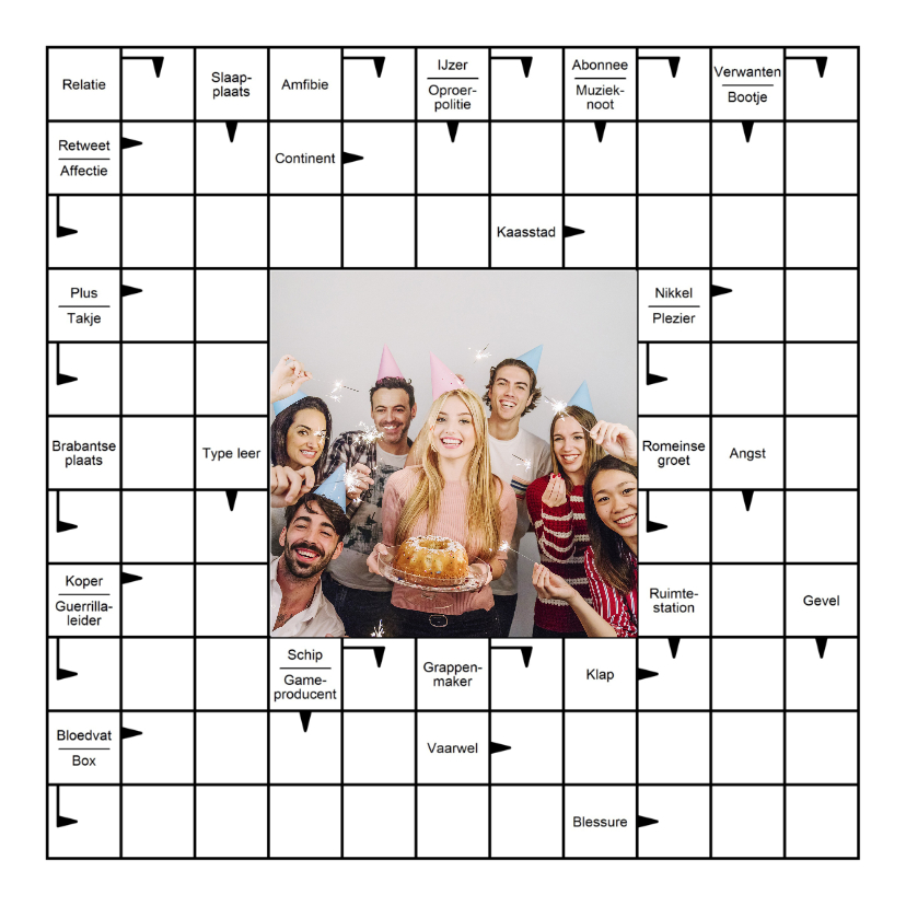 Zomaar kaarten - Wenskaart met Zweedse puzzel en eigen foto