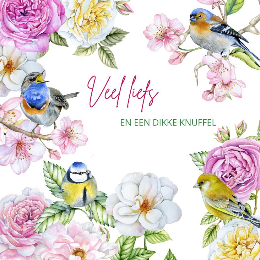 Zomaar kaarten - Zomaar bloemen vogeltjes