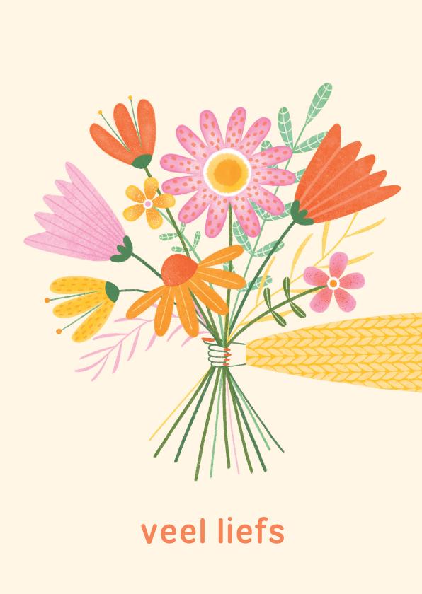 Zomaar kaarten - Zomaar bos bloemen geel en oranje