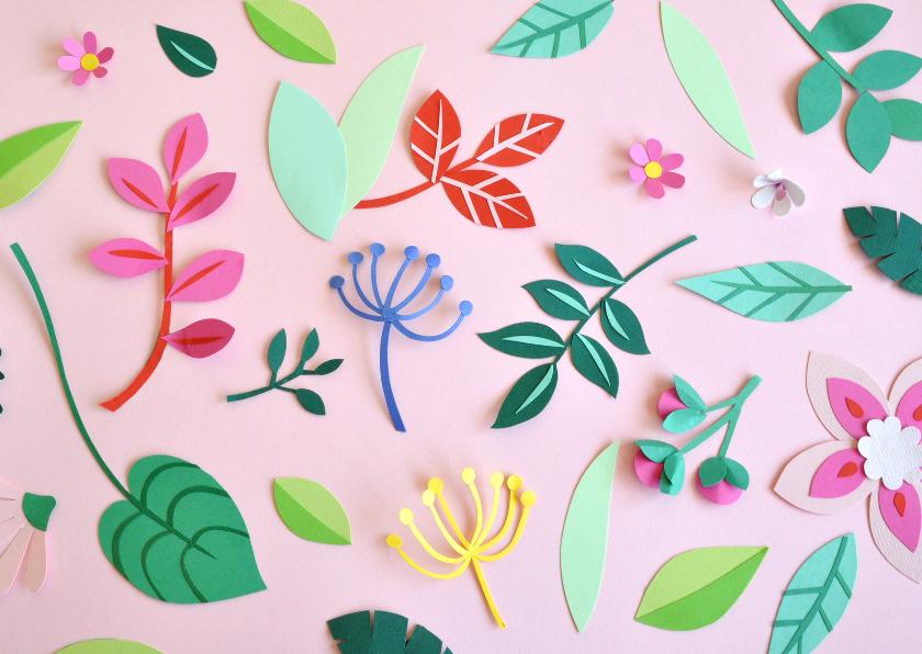 Zomaar kaarten - Zomaar Botanical pink