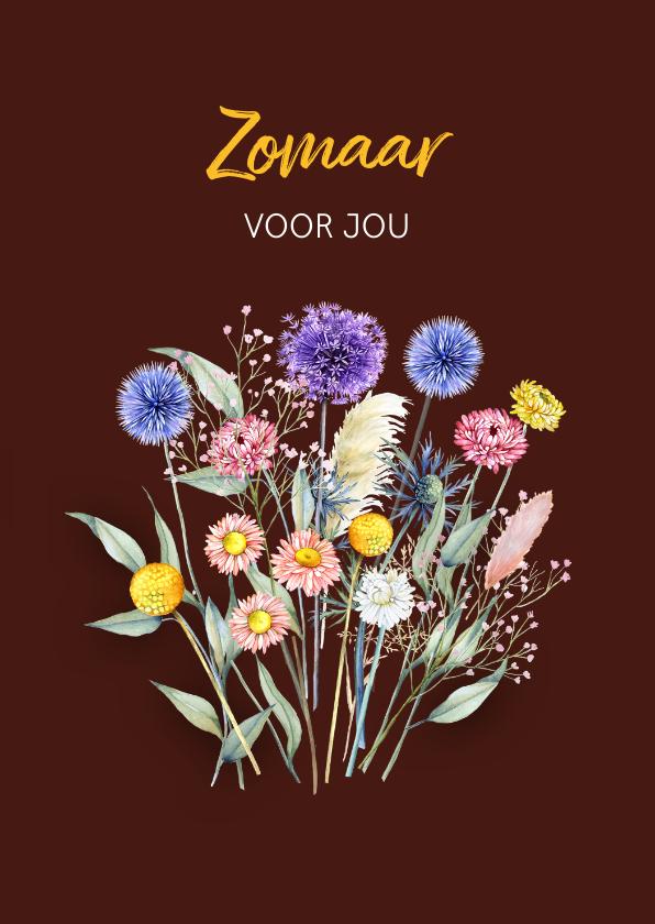 Zomaar kaarten - Zomaar droogbloemenboeketje