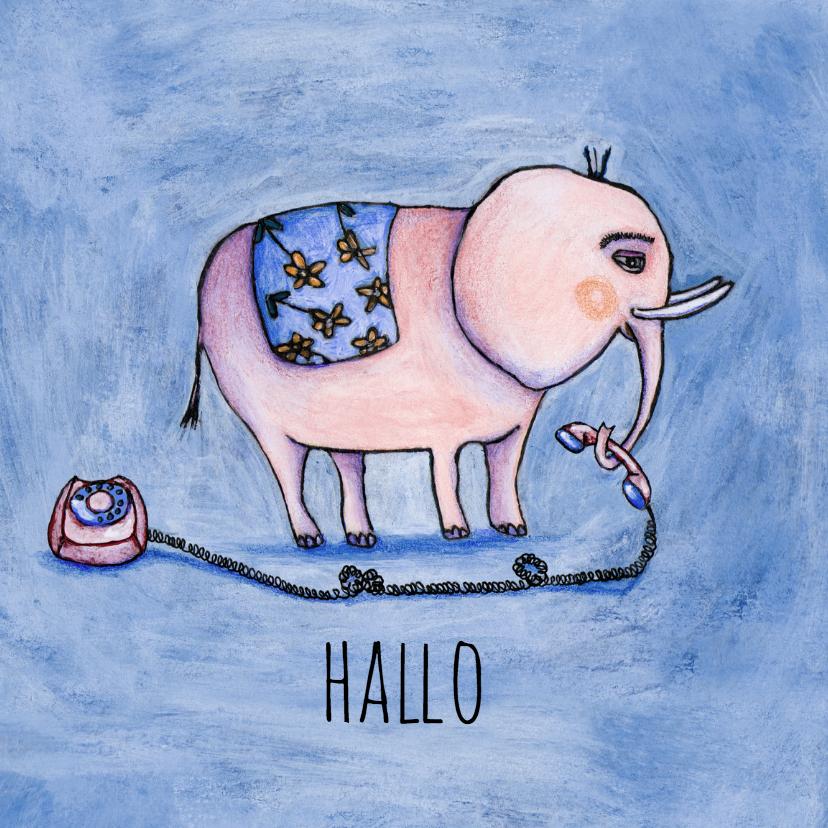 Zomaar kaarten - zomaar hallo -KK