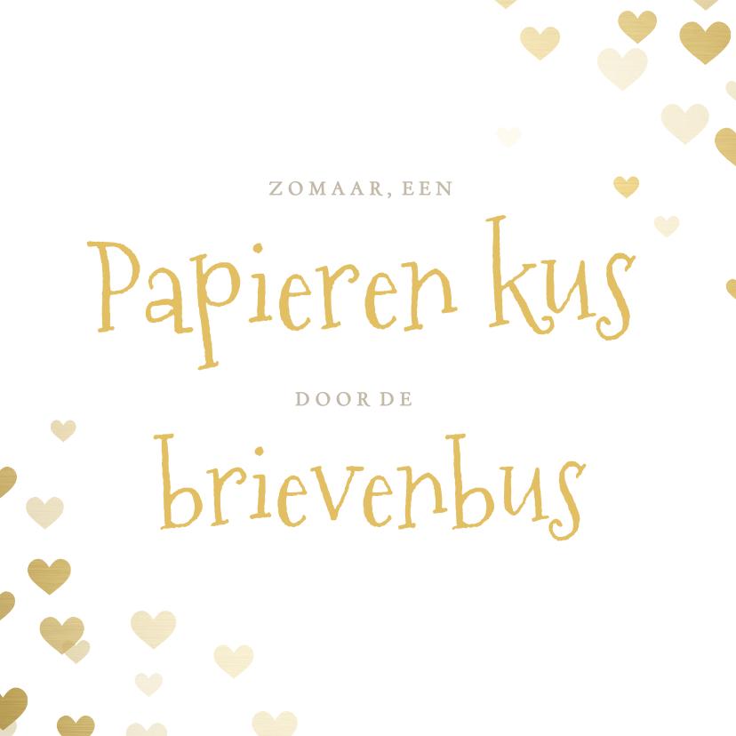 Zomaar kaarten - Zomaar hartjes kaart papieren kus door de brievenbus