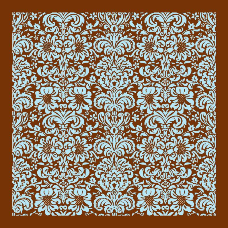 Zomaar kaarten - Zomaar kaart barok patroon