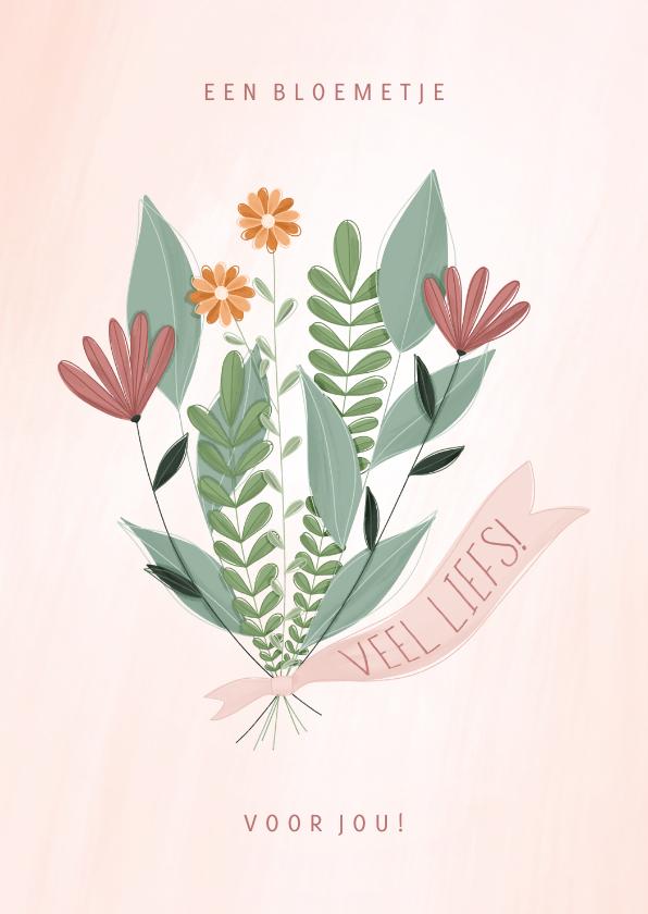 Zomaar kaarten - Zomaar kaart een bloemetje voor jou veel liefs