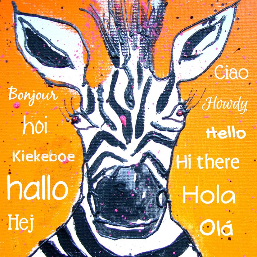 Zomaar kaarten - Zomaar kaart grappige Zebra