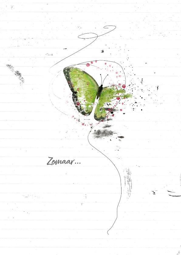 Zomaar kaarten - Zomaar Kaart Groene Vlinder
