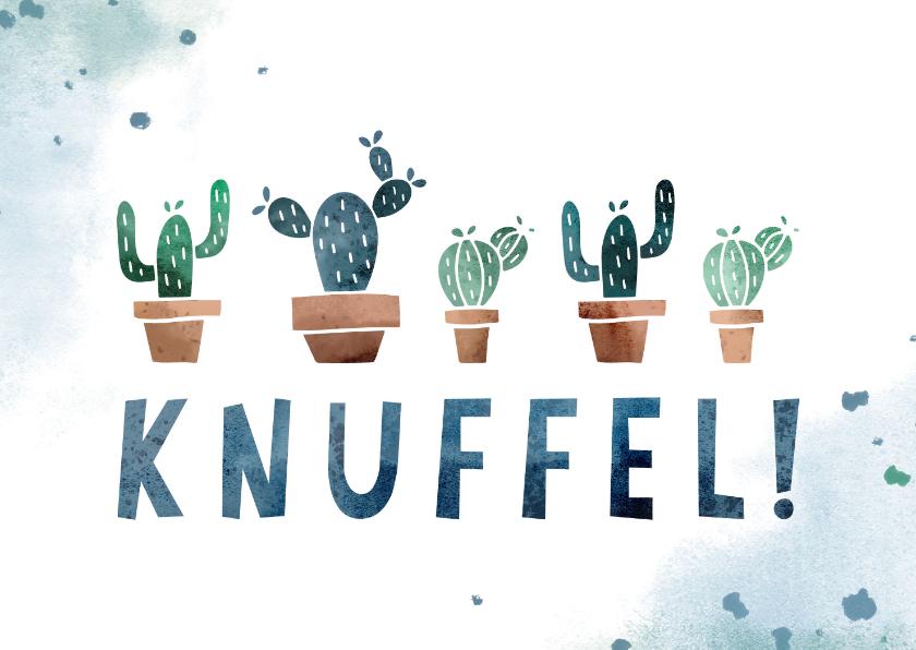 Zomaar kaarten - Zomaar kaart knuffel met cactussen