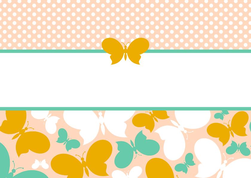 Zomaar kaarten - Zomaar kaart met vlinders